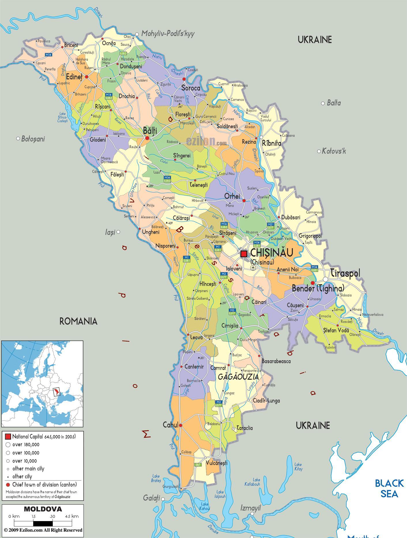 Moldawien Karte.Balti Moldawien Karte Belzy Moldau Karte Osteuropa Europa