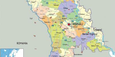 Moldawien Karte Karten Moldau Ost Europa Europe